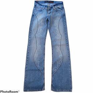 NWOT Waggon Paris Gem Studded Denim Jeans Sz 27.